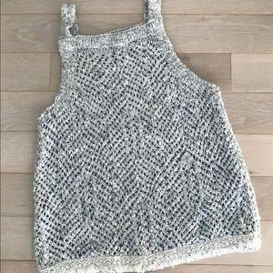 Abercrombie Kids Knit Tank Top SZ 13-14 Gray/White